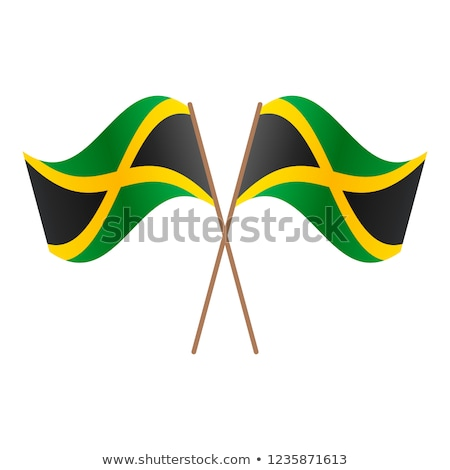Jamaica bandera blanco mundo marco signo Foto stock © butenkow