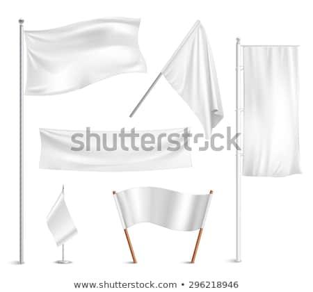 Beyaz bayrak yalıtılmış simge soyut uzay Stok fotoğraf © MaryValery