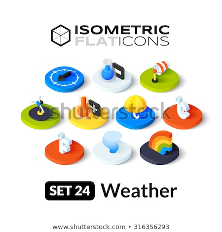 Fahrenheit isometric icon, isolated on color background Stock photo © sidmay