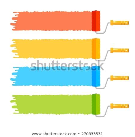 ストックフォト: 色 · 塗料 · シンボル · 画家 · 家