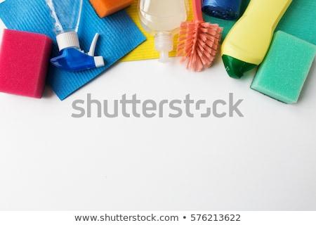 Deterjan temizlik beyaz ev işi ev Stok fotoğraf © dolgachov