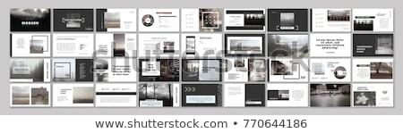 Startup poster sjabloon papier gesneden Stockfoto © orson