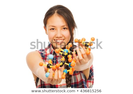 Kid fille science physique atome illustration Photo stock © lenm