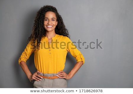 Beautiful african american woman with toothy smile. Stock photo © NeonShot