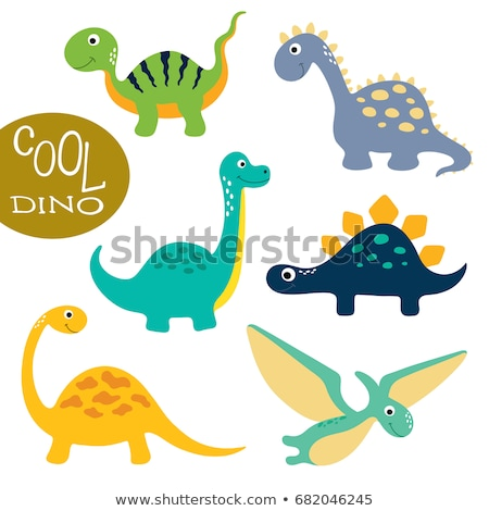 sevimli · karikatür · dinozor · karakter · çocuklar · mutlu - stok fotoğraf © lenm