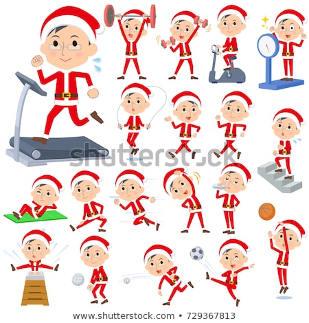 Santa Claus Costume dad_Sports & exercise Stock photo © toyotoyo