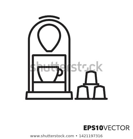 sıcak · içecek · Retro · vektör · makine - stok fotoğraf © studiostoks