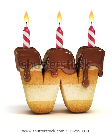 Geburtstag Schriftart Schreiben Kerze Jahrestag Stock foto © popaukropa