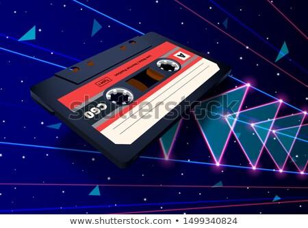 néon · 80 · voador · espaço · laser - foto stock © SwillSkill