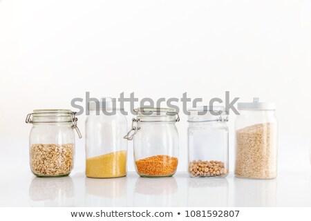 ev · yapımı · granola · cam · kavanoz · yoğurt - stok fotoğraf © dash