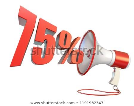 75 percent sign and megaphone 3d stock photo © djmilic