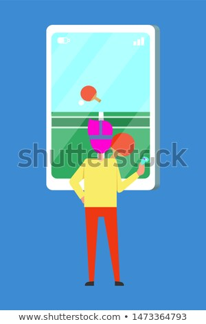 Person Plays Table Tennis Virtual Reality Glasses Stock photo © robuart