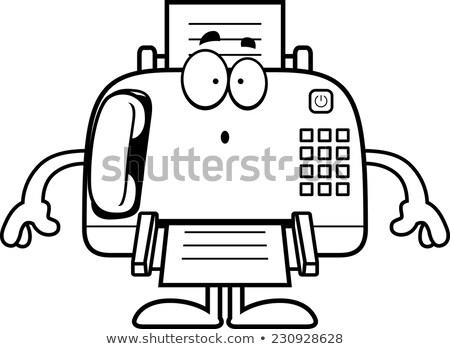 Surprised Cartoon Fax Machine Stock photo © cthoman