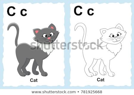 educational cartoon alphabet for kids color book Stock photo © izakowski