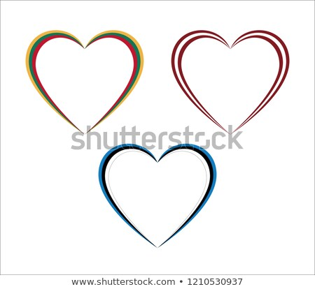 Set of three hearts in Lithuanian, Latvian and Estonian colors isolated on white background stock photo © kurkalukas