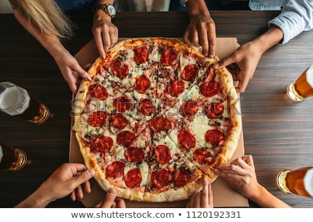 Pizza with Friends Stock photo © iko