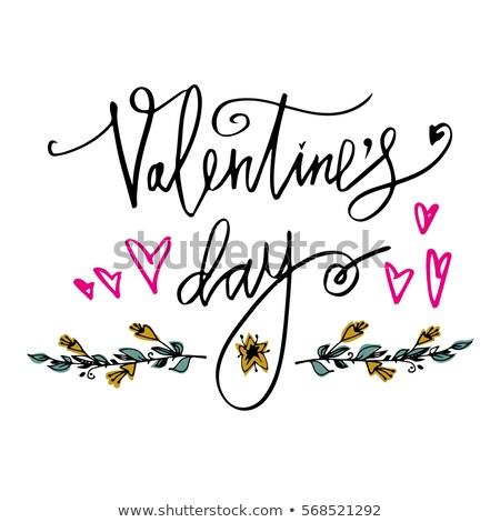saint · valentin · accueil · affiche · design · amour · vacances - photo stock © kollibri