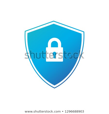 cyber security shield icon or logo. vector illustration isolated on white background. Stock photo © kyryloff