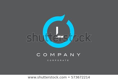 Stock fotó: Színes · l · betű · logo · ikon · vektor · felirat