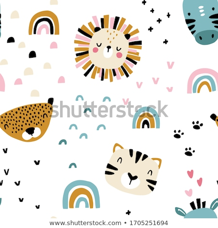Garçon fille jungle illustration printemps bois Photo stock © bluering