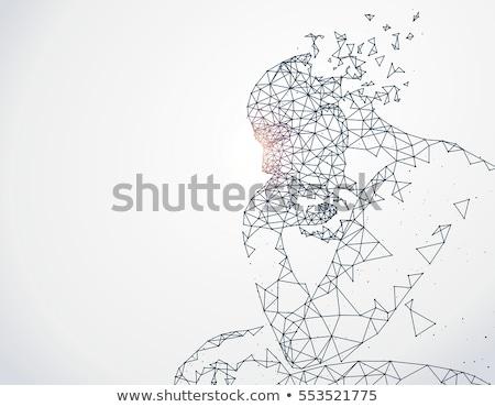 Yapay zeka kişi geometrik vektör yukarı biçim Stok fotoğraf © robuart