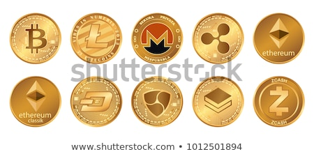 Bitcoin Cryptocurrency Coins Currency Set Vector Stock photo © robuart