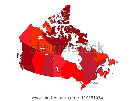 Canada kaart gestileerde icon vector ontwerp Stockfoto © blaskorizov