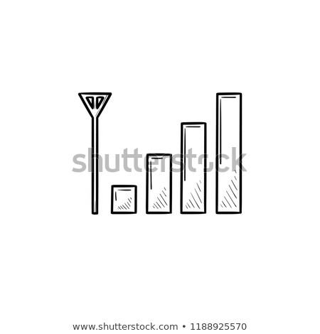 Téléphone portable signal bars dessinés à la main doodle Photo stock © RAStudio