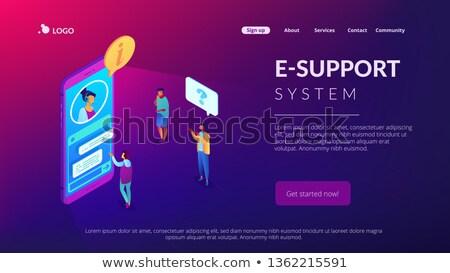 Müşteri izometrik 3D iniş sayfa Stok fotoğraf © RAStudio