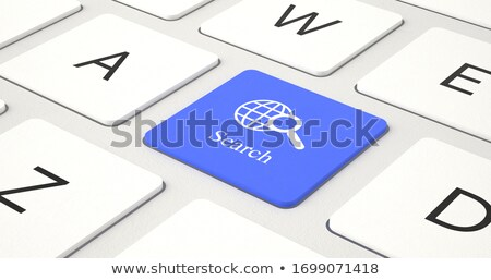 Keyboard with Blue Key - Job Seeking. 3D. Stock photo © tashatuvango