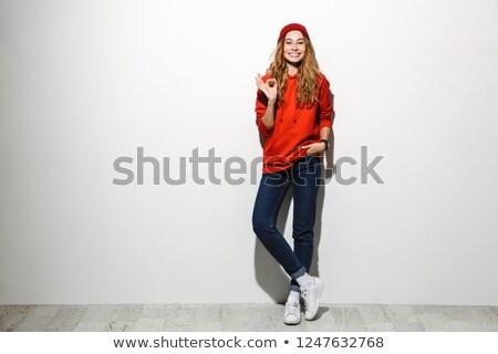 Tam uzunlukta fotoğraf şık kadın 20s Stok fotoğraf © deandrobot