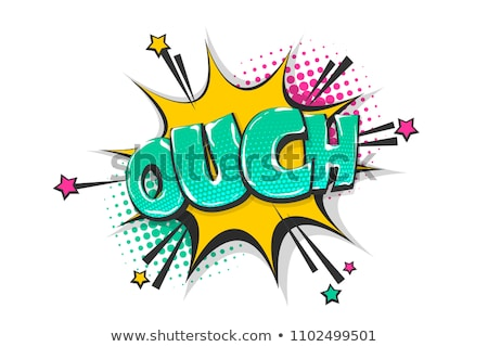 Oops, speech bubble. Banner, speech bubble, poster and sticker Stock photo © FoxysGraphic