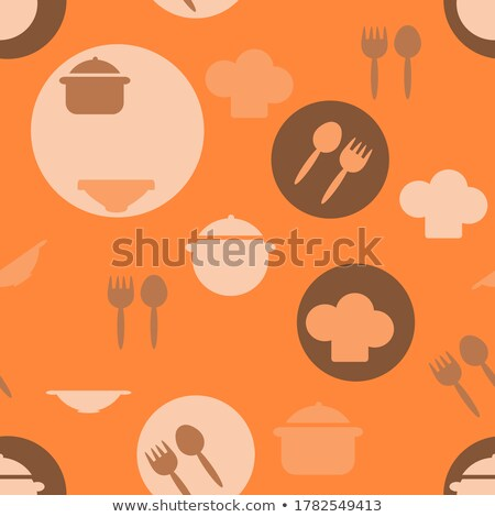 Restaurant cartoon iconen promotie eps 10 Stockfoto © netkov1