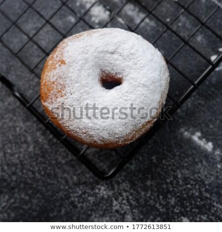 ciambella · zucchero · a · velo · isolato · bianco · colazione · grasso - foto d'archivio © mpessaris