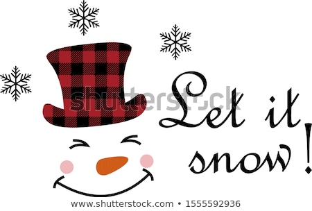 Cute snowmen heads with scarves and hats for Christmas  Stock photo © Pravokrugulnik