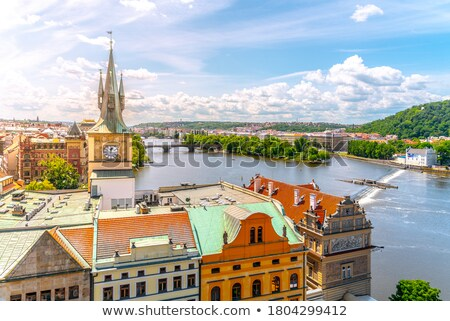 Staromestska tower on Vltava Stock photo © Givaga