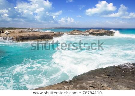 escalo es calo Formentera north rocky coast aqua stock photo © lunamarina