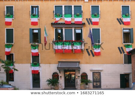 Casa bandera Italia ue banderas Foto stock © MikhailMishchenko