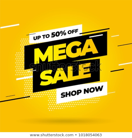 Mega Sale and Discounts Poster Vector Illustration Stock photo © robuart