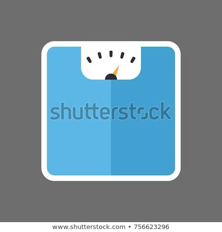 flat design icon floor scales stock photo © angelp