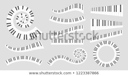 Piano Circle Keyboard Icon Foto d'archivio © curiosity