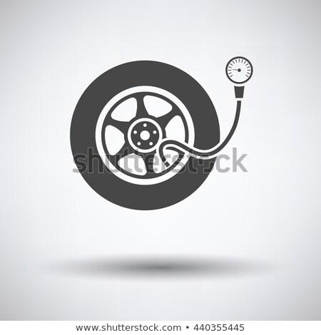 Tire pressure gage icon Stock photo © angelp