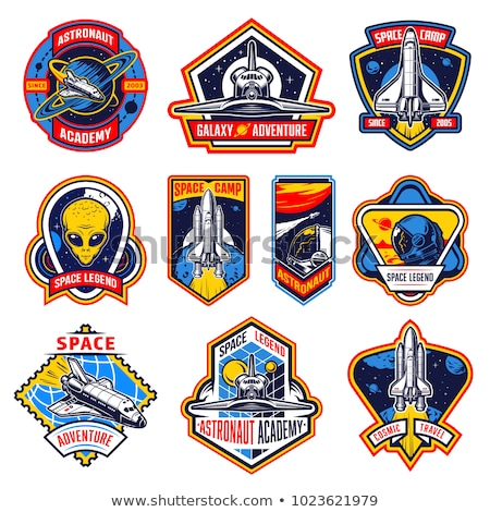 ruimte · exploratie · banner · iconen · web · design · lijn - stockfoto © netkov1