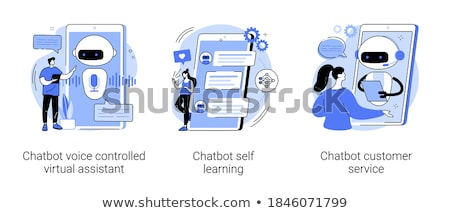 Chatbot voice controlled virtual assistant concept vector illustration. Stock photo © RAStudio