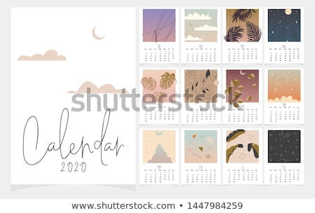 2020 year calendar grid numbers isolated on white stock photo © orensila