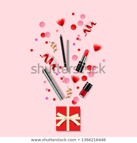 Cosmetici moda compongono artista oggetti rossetto Foto d'archivio © ikopylov