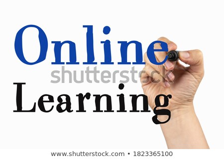 Stock photo: Online Courses Handwritten With Black Marker