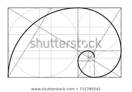 Minimalist stil dizayn altın geometrik Stok fotoğraf © olehsvetiukha