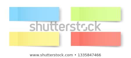 Colorful postit set Stock photo © lemony