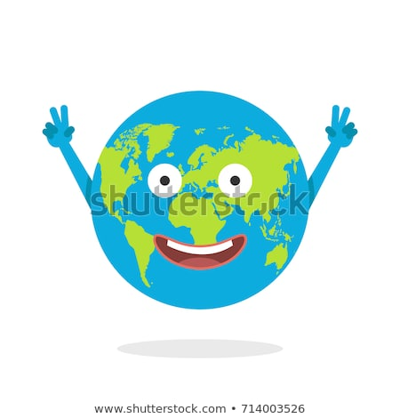 earth globe world mascot cartoon character stock photo © krisdog
